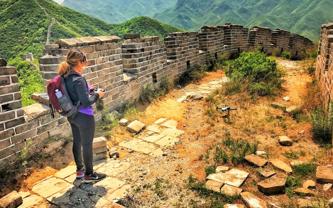 Her Drone and the Great Wall of China